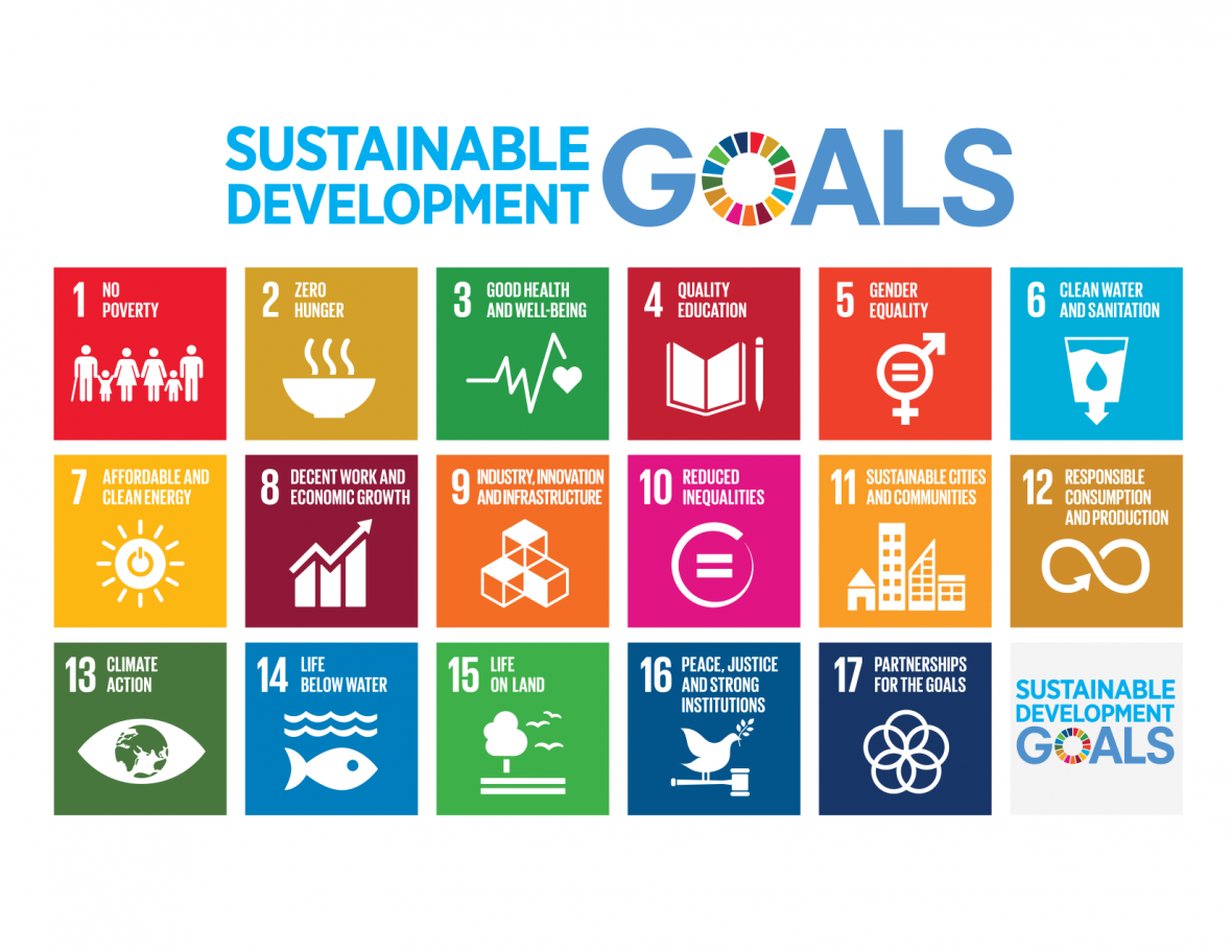 United Nations Sustainable Development Goals 1-17